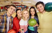 stock photo of bowling ball  - people - JPG