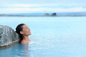 picture of hot water  - Geothermal spa - JPG