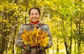 Senior Woman  In Autumn
