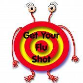 farsa de vacina contra a gripe