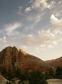 stock photo of naturel  - view of nice giant rock in Zion  national park - JPG