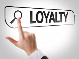 stock photo of loyalty  - Loyalty written in search bar on virtual screen - JPG