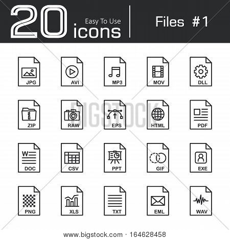 Files icon set