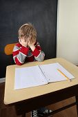 stock photo of students classroom  - Frustrated student - JPG