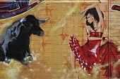 Street Art - bullfight #1