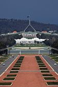 Anzac Avenue and Parliament House - Canberra