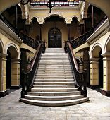 Colonial staircase at Archbishops Palace in Lima Peru