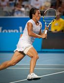 MELBOURNE - JANUARY 23: Francesca Schiavone of Italy in her marathon fourth round win over Svetlana