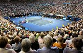 MELBOURNE - JANUARY 28: Rod Laver Arena during the semi final match between Andy Murray and David Fe
