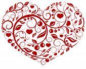 Padrão de coração (amor, Valentim, série padrão)