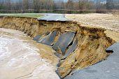 Flooding and destruction