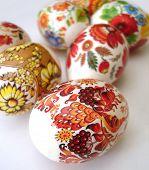 beautiful multi-coloured easter eggs