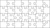 transparent vector puzzle - place your picture under