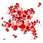 pétalos del corazón de San Valentín floreciendo