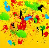 Grunge Background with Messy Paint Splatters