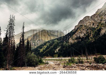 Mountain Landscape Tien Shan The