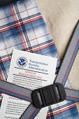 NEW YORK - SEPT. 2008: Transportation Security Administration notification of checked-in baggage hav