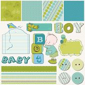 Scrapbook Boy Set - elementos de diseño