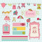 Design Elements for baby Scrapbook - Baby Girl Wardrobe Collection