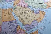 Makro Globus Karte Detail 13 Saudia Arabien