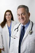 Doctor nurse health care professional white background