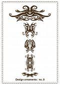 abstract vector design elements ,borders ,frames, retro,tribal ,floral tatoo,ornaments,part of a 100
