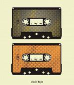 Ilustración de la cinta audio retro