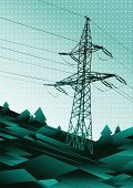 power line vector illustration