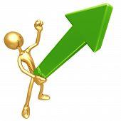 Erect Upward Market Trend Arrow
