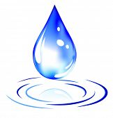 vector of water drop