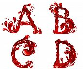 Vector of red letters ABCD