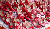picture of mary jane  - gypsy red shoes with polka dot spots in shop market - JPG