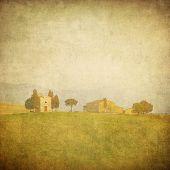 Jahrgang toskanischen Landschaft