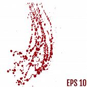 Blood Splatter Painted Vector Isolated On White For Halloween De poster