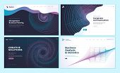 Set Of Web Page Design Templates With Abstract Background For Business Analysis And Statistics, Mana poster