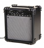 Electric guitar amplifier, white background