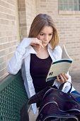 Teen High School Girl Reading