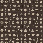 Restaurant Background With Icons