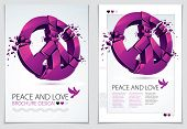 Peace Symbol Breaking To Pieces Vector 3d Realistic Illustration And Flyer, Broken Peace, Antiwar Me poster