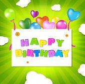 Birthday Illustration Design, Vector Illustration