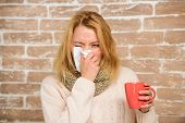Remedies Should Help Beat Cold Fast. Tips How To Get Rid Of Cold. Woman Feels Badly Ill Sneezing. Gi poster