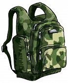 Illustration of a backpack