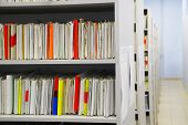 Personal Things. Shelves With Personal Documents Of The Hospital Patients. poster