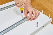 Furniture Assembler Make Professional Flat Pack Furniture Assembly Service At Home. poster