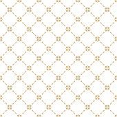 Golden Geometric Ornament. Vector Seamless Pattern In Oriental Style. Texture Of Mesh, Ornamental Gr poster