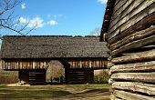 image of cade  - Historic Log barn in Cades Cove in Smoky Mountain National Park - JPG