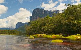 stock photo of canaima  - Picturesque tepuis in Canaima National Park Venezuela - JPG