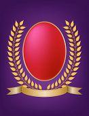 Laurel Wreath Oval Crest