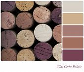 Wine corks background colour palette with complimentary swatches.