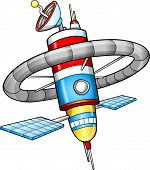 Space Station Vector Illustration art